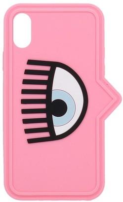 Chiara Ferragni Iphone / Ipad Case In Rose-pink Pvc