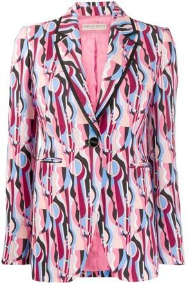 Emilio Pucci Geometric Print Blazer