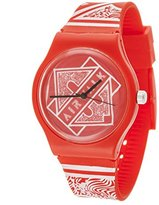 Airwalk Quartz Plastic and Silicone Casual Watch, Color:Red (Model: AWW-5089-RE)