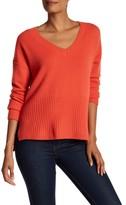 Derek Lam 10 Crosby V-Neck Cashmere Knit Hi-Lo Sweater