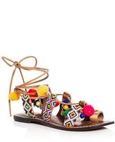 Sam Edelman Lisabeth Embellished Lace Up Gladiator Sandals