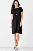 J. Jill Wearever Pleated-Back A-Line Dress