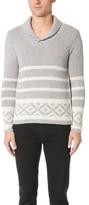 Barena Striped Shawl Sweater
