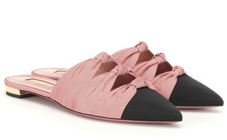Aquazzura Mondaine grosgrain slippers