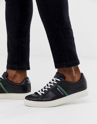 Paul Smith Rex leather trainers in black