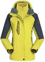 Echo Paths Women's 3-in-1 Mountain Jacket Removable Fleece lining Outdoor Waterproof Sportswear L