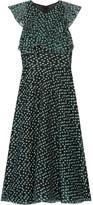 Lela Rose Ruffled Fil Coupé Organza Dress - US2