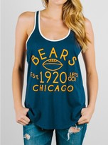 Junk Food Clothing Nfl Chicago Bears Tank-new Navy/sugar-s