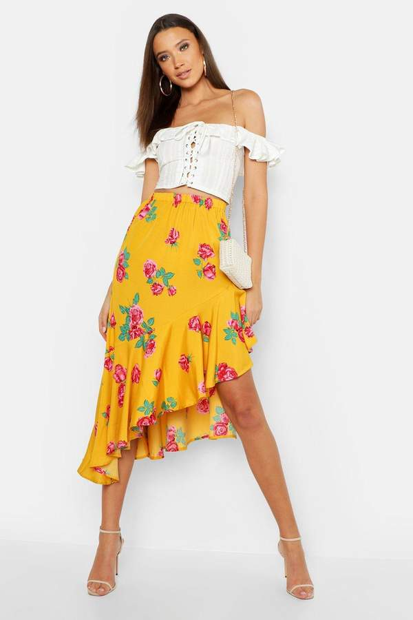 0782b8ad2 boohoo Mid Length Skirts - ShopStyle