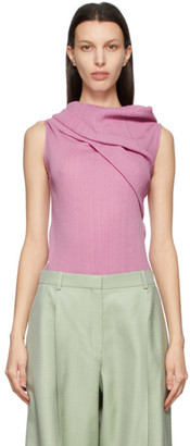 Nina Ricci Pink Off-The-Shoulder Tank Top