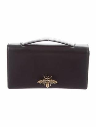 Christian Dior Karung Bee Clutch Black