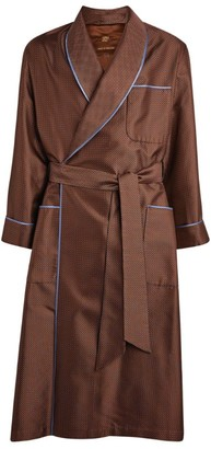 Daniel Hanson Silk Geometric Robe