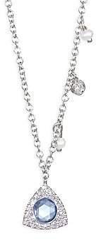 Meira T Women's 14K White Gold, Diamond & Sapphire Station Necklace