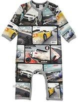 Molo Fleming Raglan Car-Print Coverall, Multicolor, Size 3-12 Months