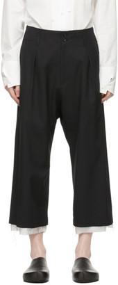 Sulvam Black Wool Trousers