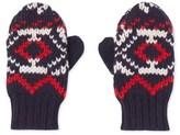 Petit Bateau Boys Jacquard knit mittens