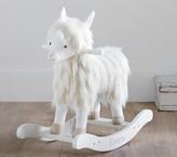Pottery Barn Kids Nursery Fur Plush Rocker - Llama