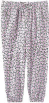 Joe Fresh Toddler Girls' Print Flowy Pant, Pale Purple (Size 3)
