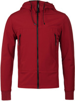 Cp Company Red Cp Shell Hooded Goggle Jacket
