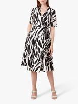 Hobbs Amara Cotton Dress, Black/Ivory