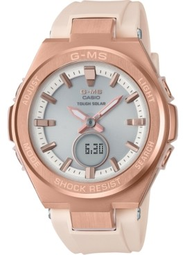 G-Shock Women's Solar Analog-Digital Blush Resin Strap Watch 38.7mm