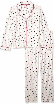 Mae Amazon Brand Women's Sleepwear Notch Collar Pajama Set