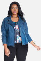 Fashion to Figure Karla Denim Moto Jacket