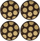 Thirstystone Dark Cork Coasters with Gold Dots (Set of 4)