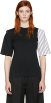 Facetasm Ssense Exclusive Black Striped Sleeve T-shirt