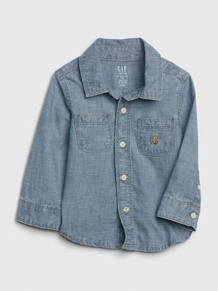 Gap Baby Brannan Bear Chambray Shirt