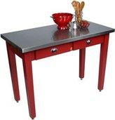 John Boos MIL Cucina Americana Milano Prep Table in Barn Red Size: 60x30x36