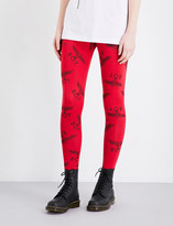 Boy London Logo-print mid-rise stretch-cotton leggings