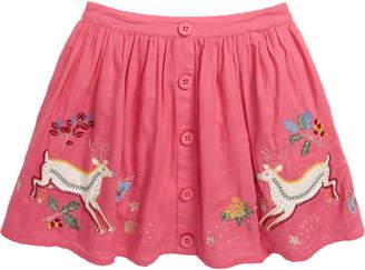 Boden Mini Embroidered Applique Skirt
