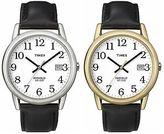 Timex Men's Easy Reader   Easy-To-Read White Dial Black Strap   Quartz Watch