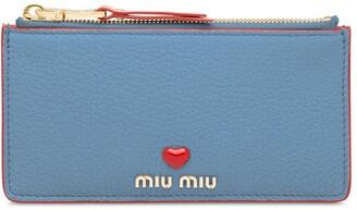 Miu Miu Madras leather pouch