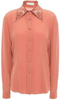 Etro Embroidered Silk-crepe Shirt