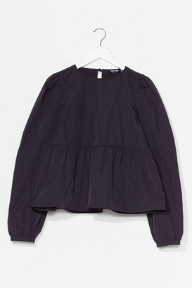 Nasty Gal Womens Smock It Off Relaxed Crew Neck Top - Black - 8