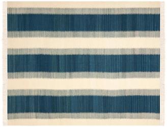 One Kings Lane Cylas Kilim - Blue/Ivory - 6'x9'