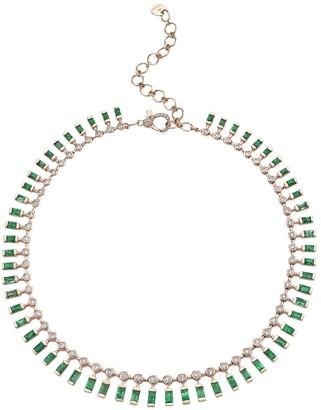 Shay Dot Dash Emerald & Diamond Necklace