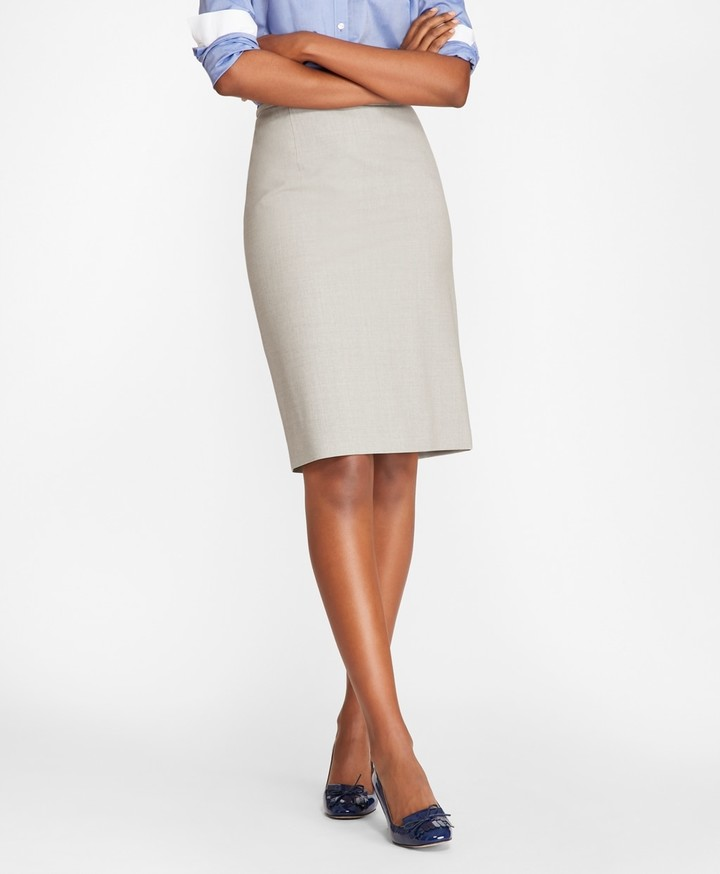 ed1297fc15 Stretch Gray Pencil Skirt - ShopStyle