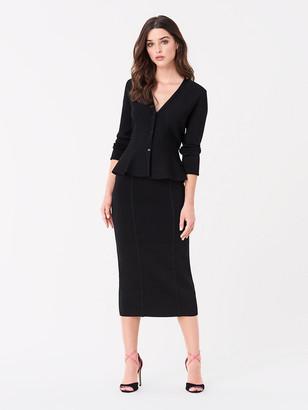 Diane von Furstenberg Heath Fitted Knit Skirt