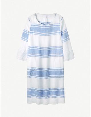 The White Company Striped boat-neck linen midi dress