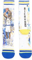 Stance Men's 'Mitch Richmond - The Rock' Watercolor Print Socks