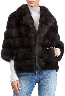 Gorski Short-Sleeve Russian Sable Jacket