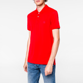Paul Smith Men's Slim-Fit Red Mercerised-Cotton PS Logo Polo Shirt