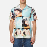 Kenzo Men's Pyjama Collar Printed Short Sleeve Shirt Glacier