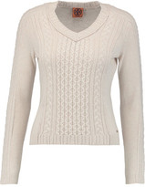 Tory Burch Faith Cable-Knit Wool And Cashmere-Blend Sweater
