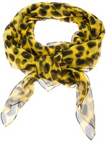 Alexander McQueen leopard and skull print scarf