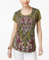 Style&Co. Style & Co Paisley Graphic T-Shirt, Only at Macy's