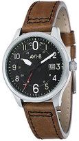 AVI-8 Men's Hawker Hurricane Brown Leather Strap Watch